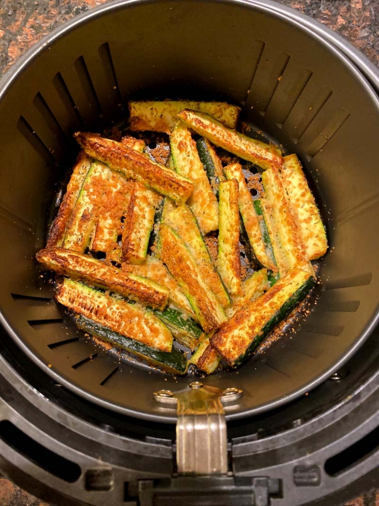 air fryer zucchini no bread crumbs