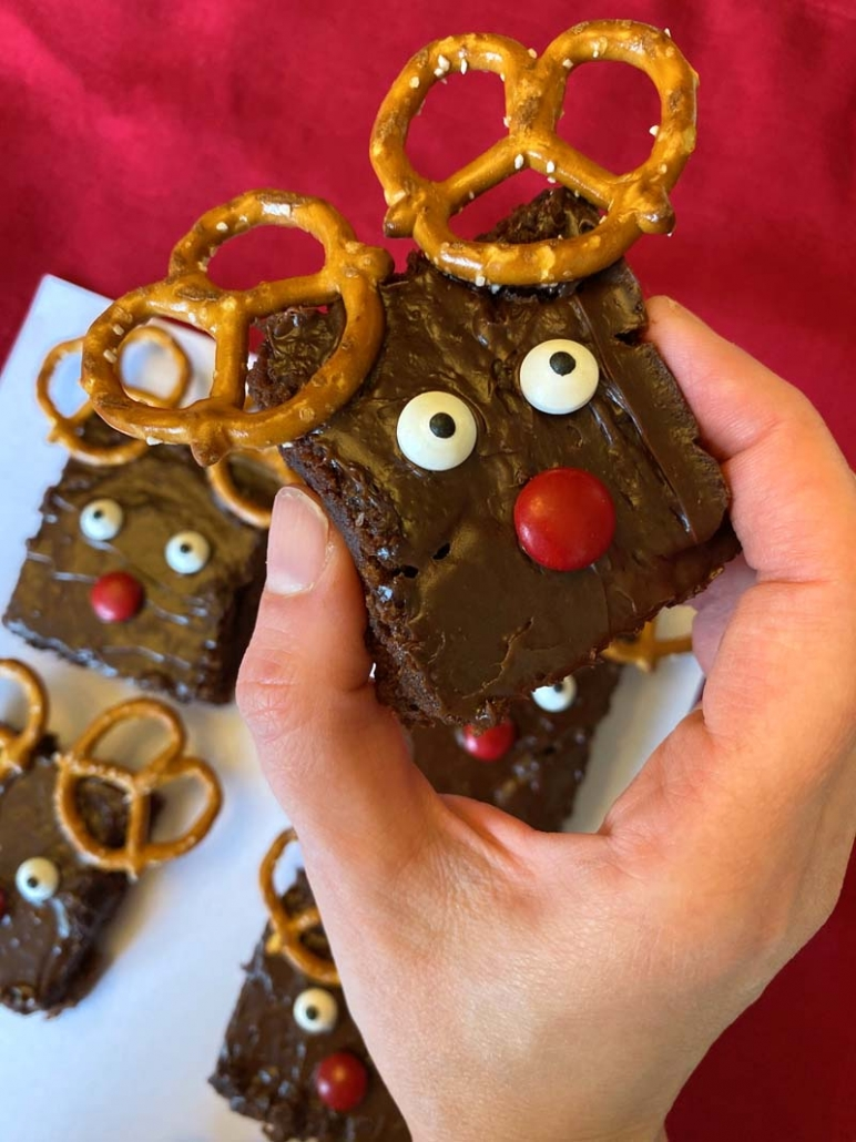 rudolph the reindeer brownies