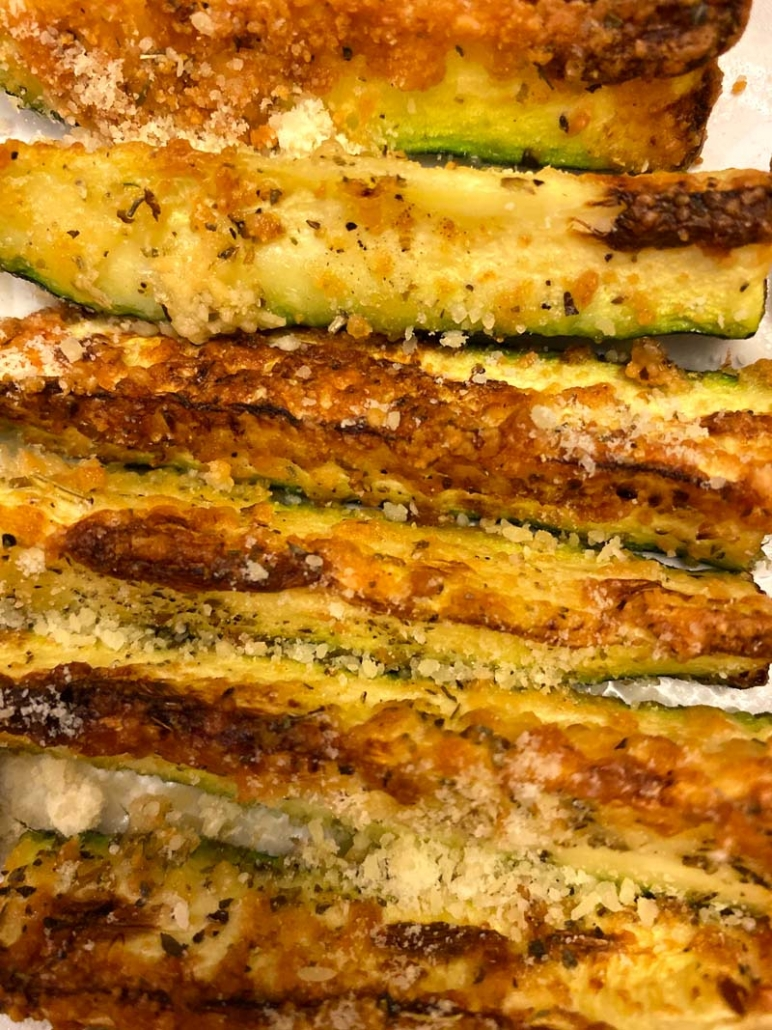 Air Fryer Keto Parmesan Zucchini Fries