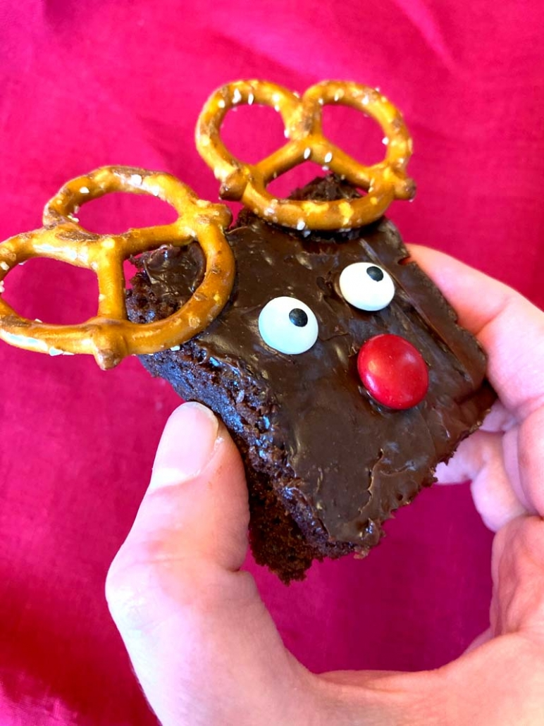 easy reindeer brownies recipe