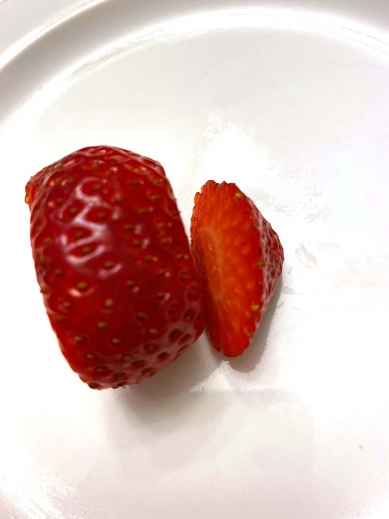 cut strawberry
