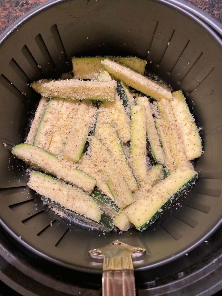 making zucchini fries