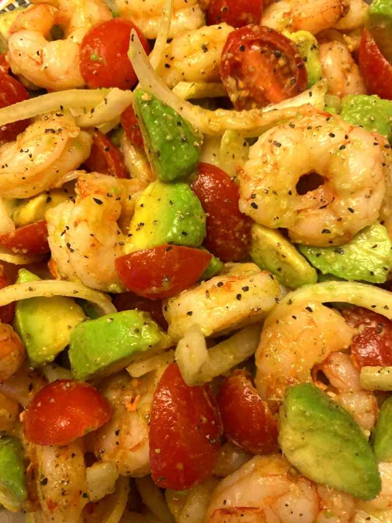 low carb shrimp avocado salad