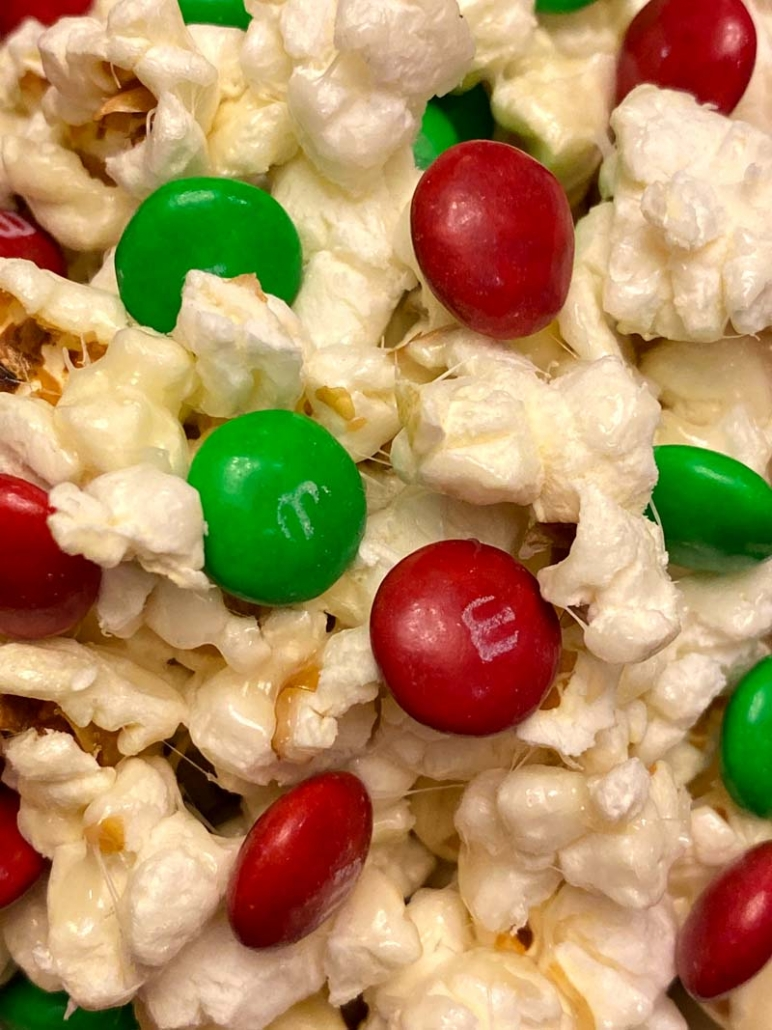 marshmallow m&ms popcorn easy recipe