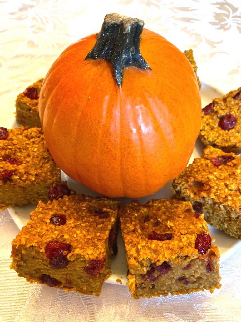 gluten free pumpkin baked oatmeal
