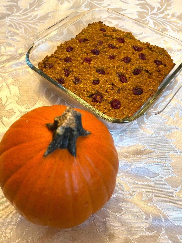 pumpkin baked oatmeal healthy gluten free