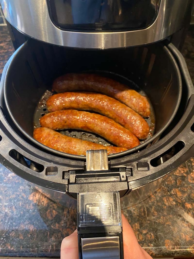 cooking italian sausages in air fryer