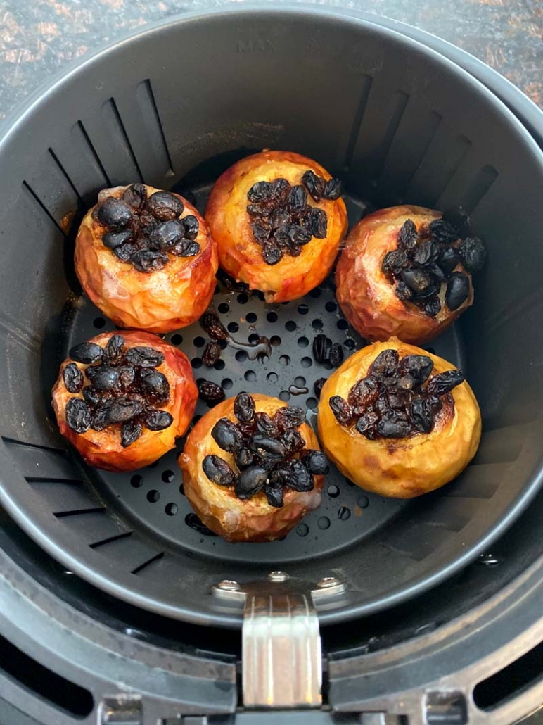 baked apples in the air fryer
