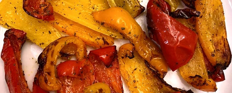 Air Fryer Roasted Bell Peppers