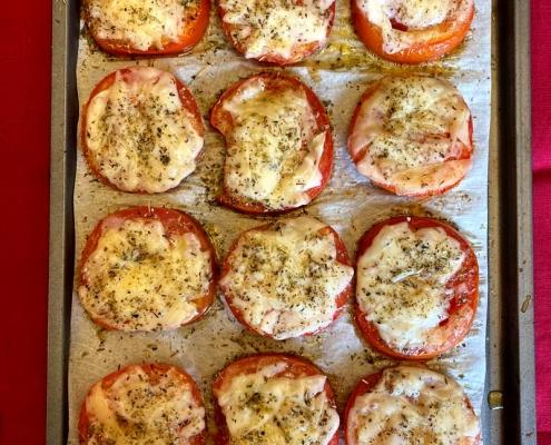 keto roasted parmesan tomatoes