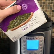 Instant Pot Frozen Spinach