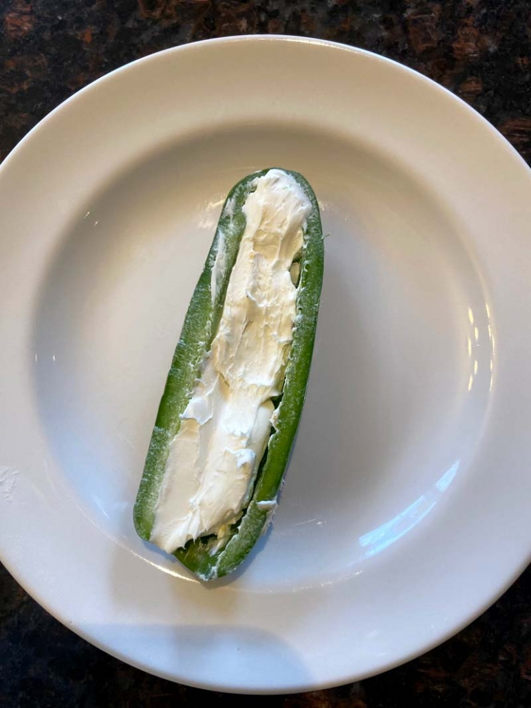 jalapeno stuffed with cream cheese