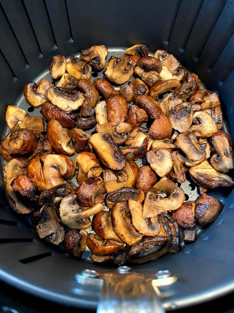 air fryer portobello mushrooms
