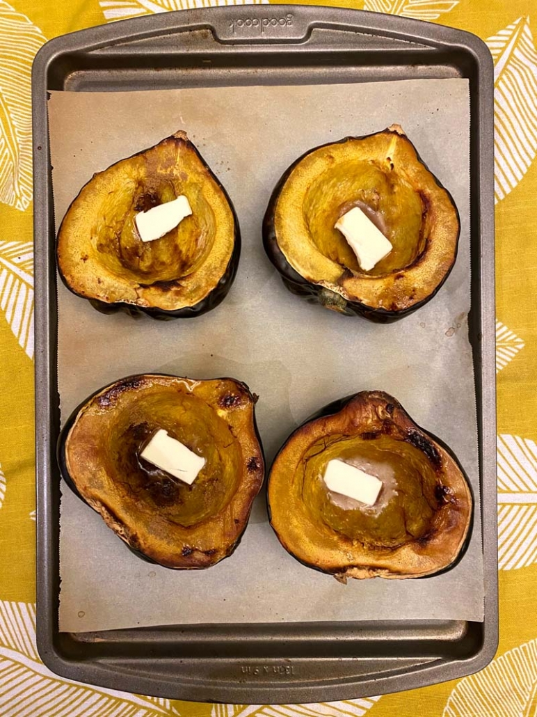how to bake acorn squash halves in the oven