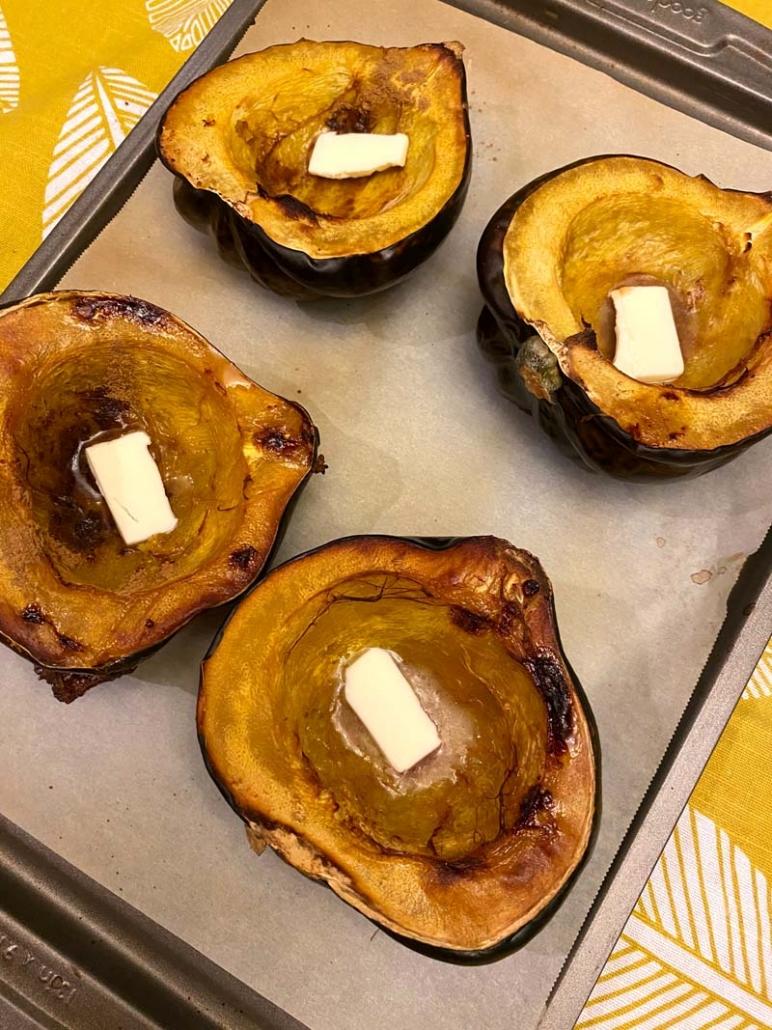 oven roasted acorn squash
