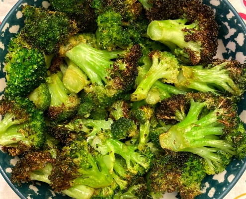 air fryer roasted broccoli