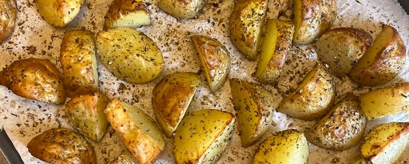 roasted potatoes with skins