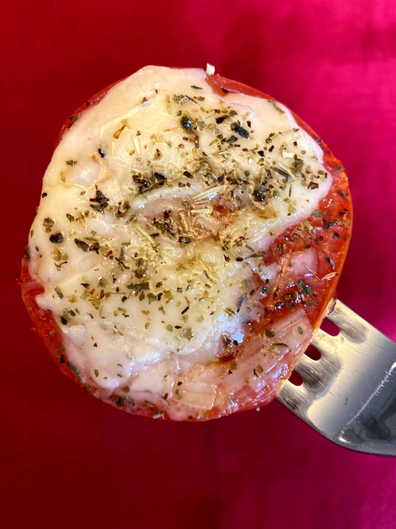 baked tomato slice