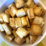 Air Fryer Homemade Croutons Recipe