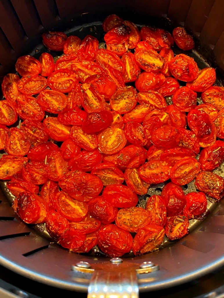 roasted cherry tomatoes in the air fryer