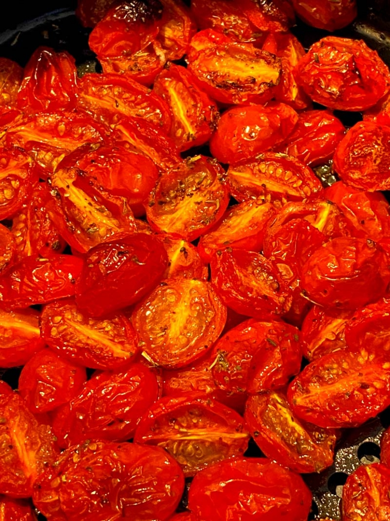 roasted cherry tomatoes with italian seasoning
