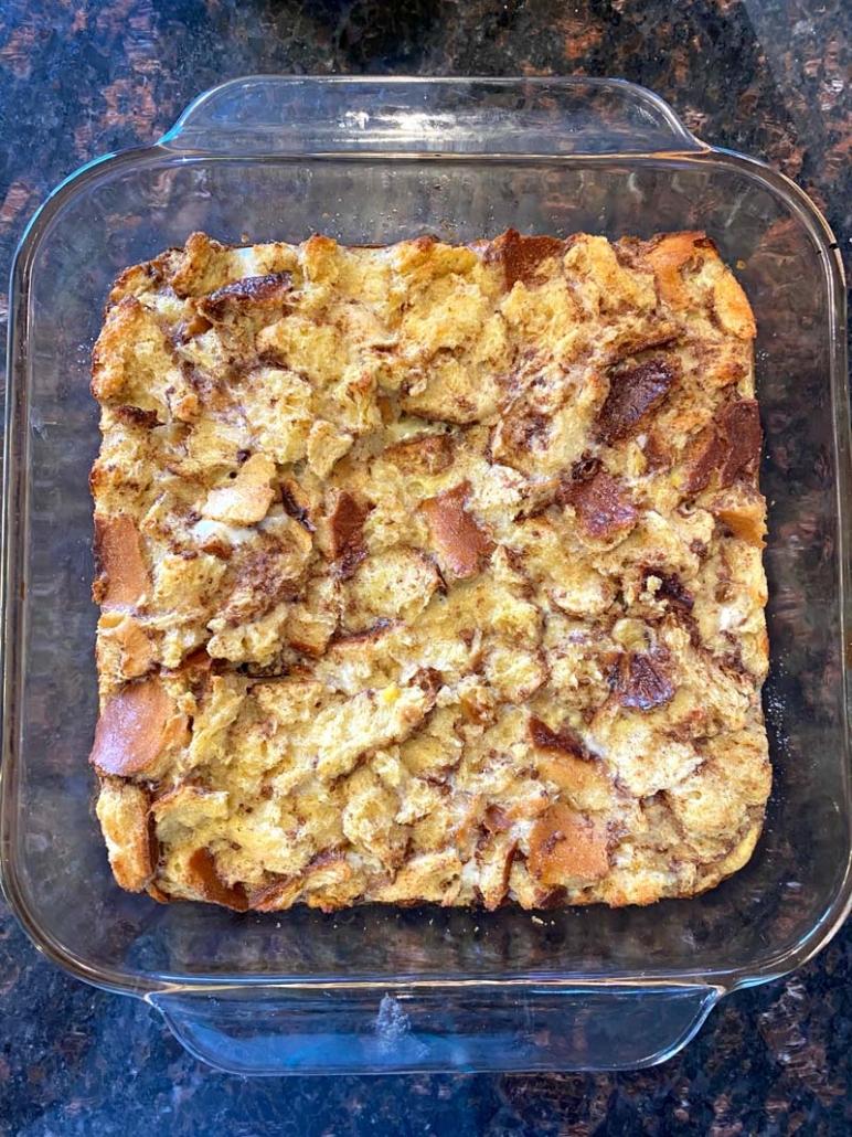leftover challah breakfast casserole