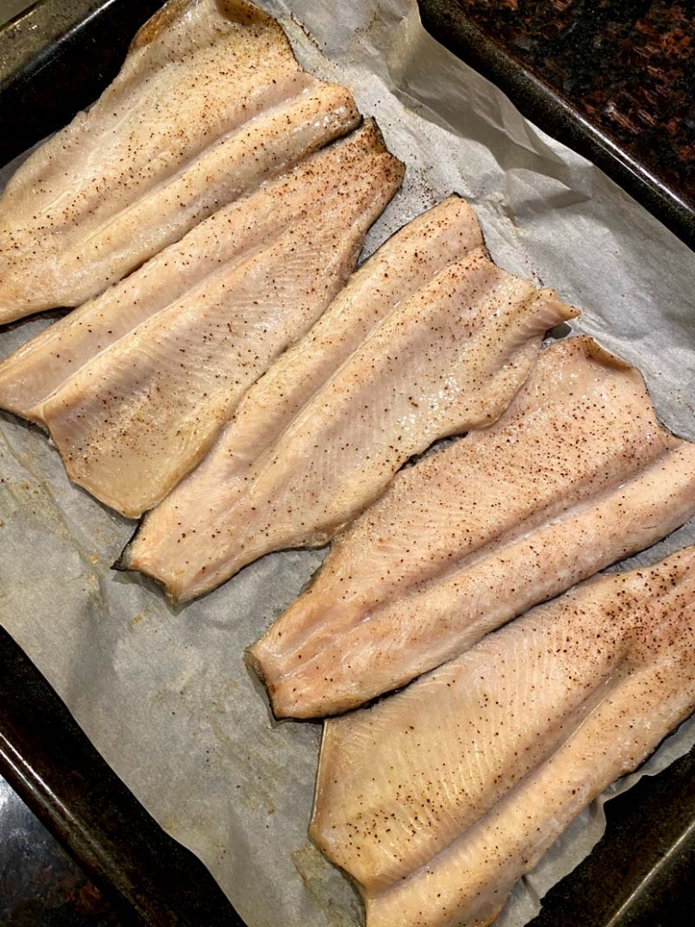Baked Rainbow Trout Fillets
