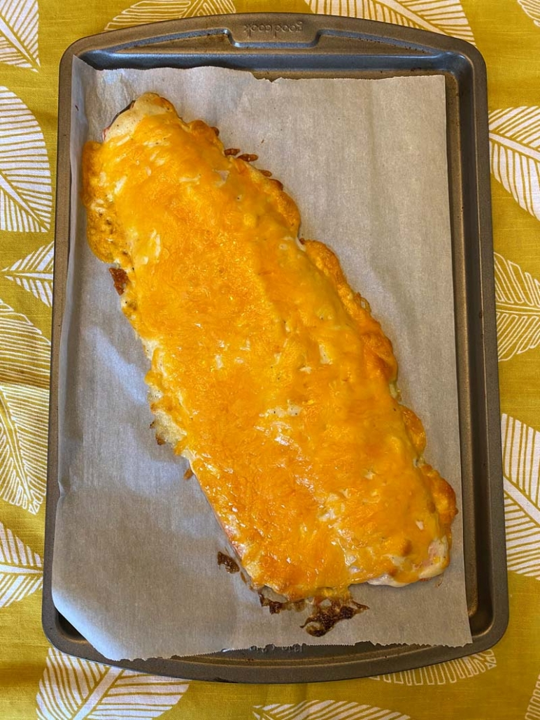 easy baked salmon with melted cheese