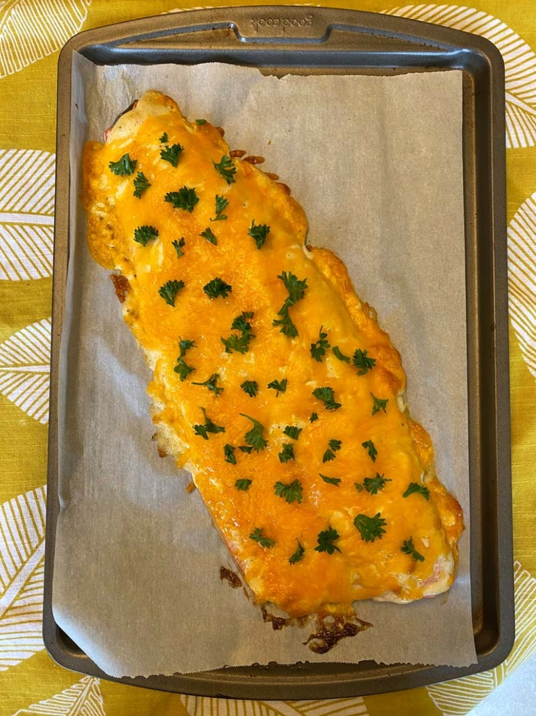 Easy cheesy baked salmon recipe