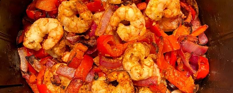 Air Fryer Shrimp Fajitas