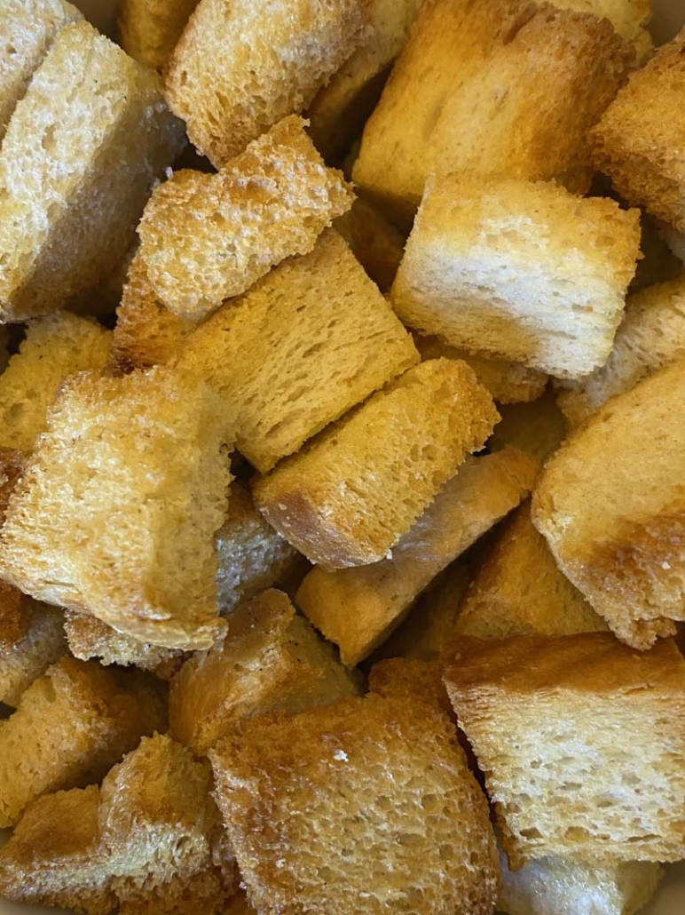fried croutons in the air fryer