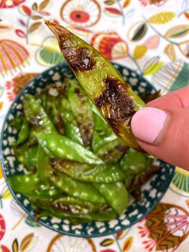 roasted snow peas