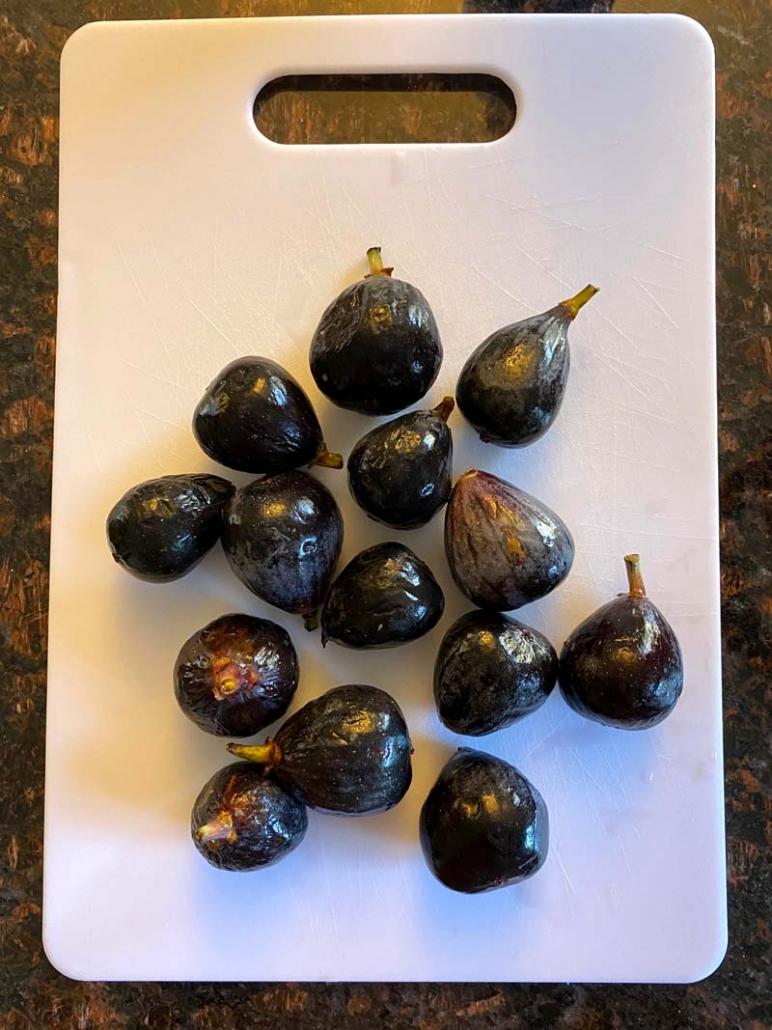 fresh figs on a cutting board