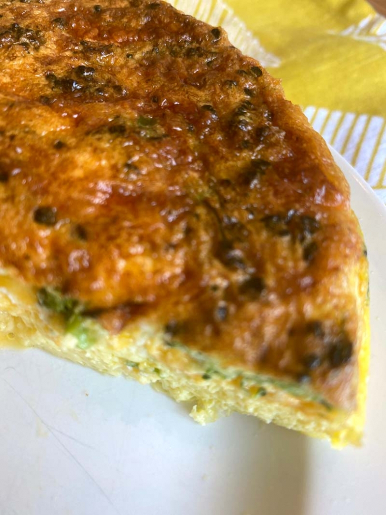 crispy frittata with vegetables and cheese