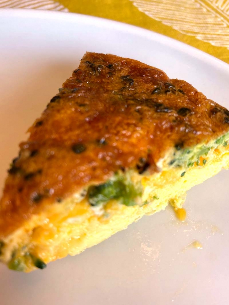 a slice of air fried frittata