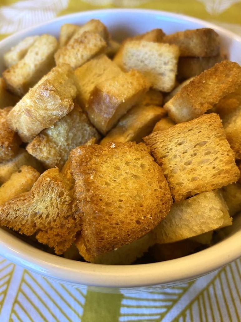 air fryer homemade croutons recipe
