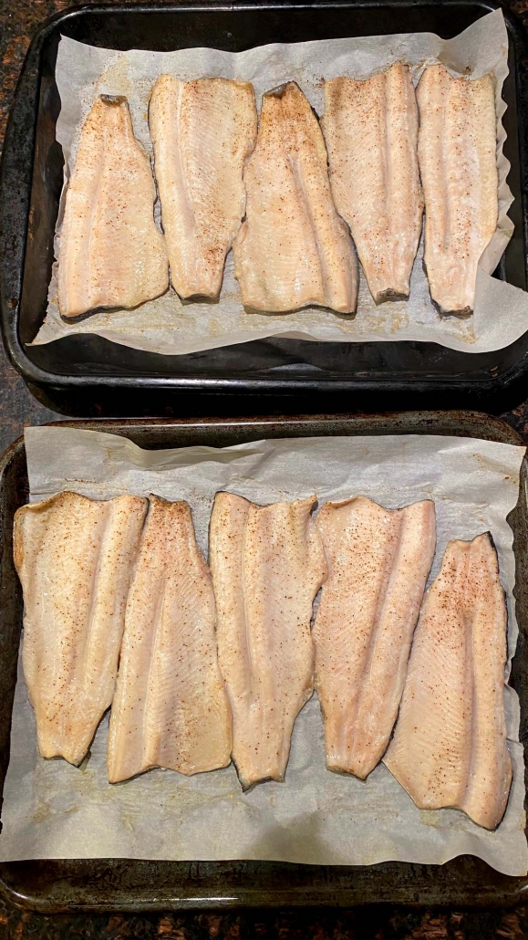Oven Baked Rainbow Trout Fish Fillet Recipe