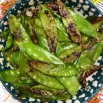 Air Fryer Roasted Snow Peas
