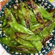 Air Fryer Roasted Snow Peas Recipe