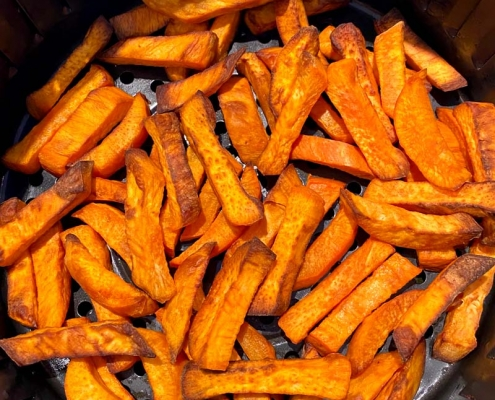 Air Fryer Sweet Potato Fries From Scratch