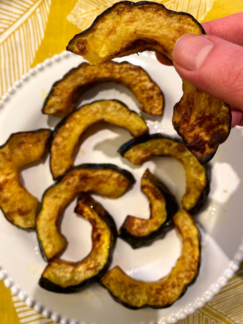 air fried acorn squash fries