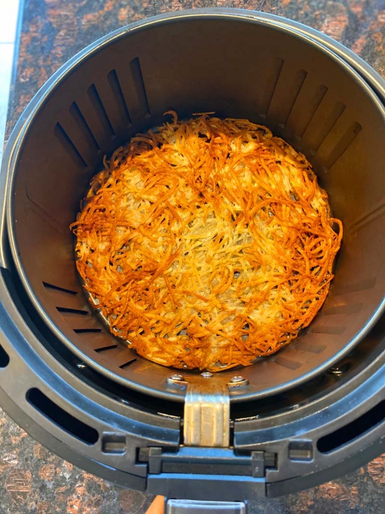 air fried hashbrowns