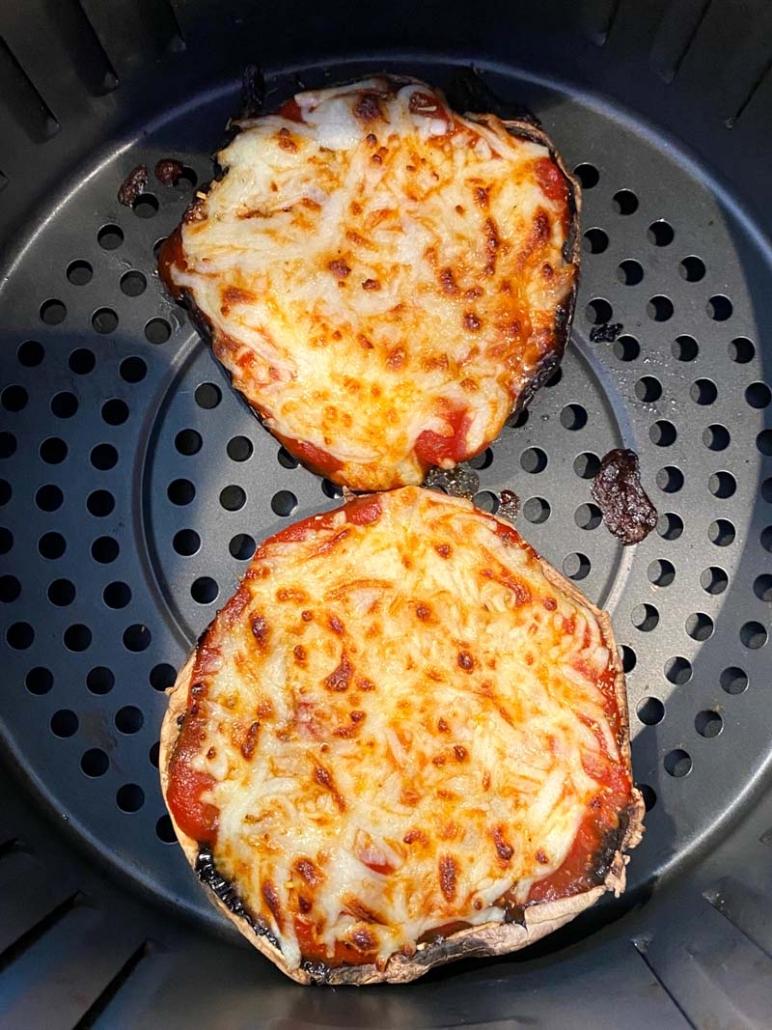cheesy portobello pizza air fryer