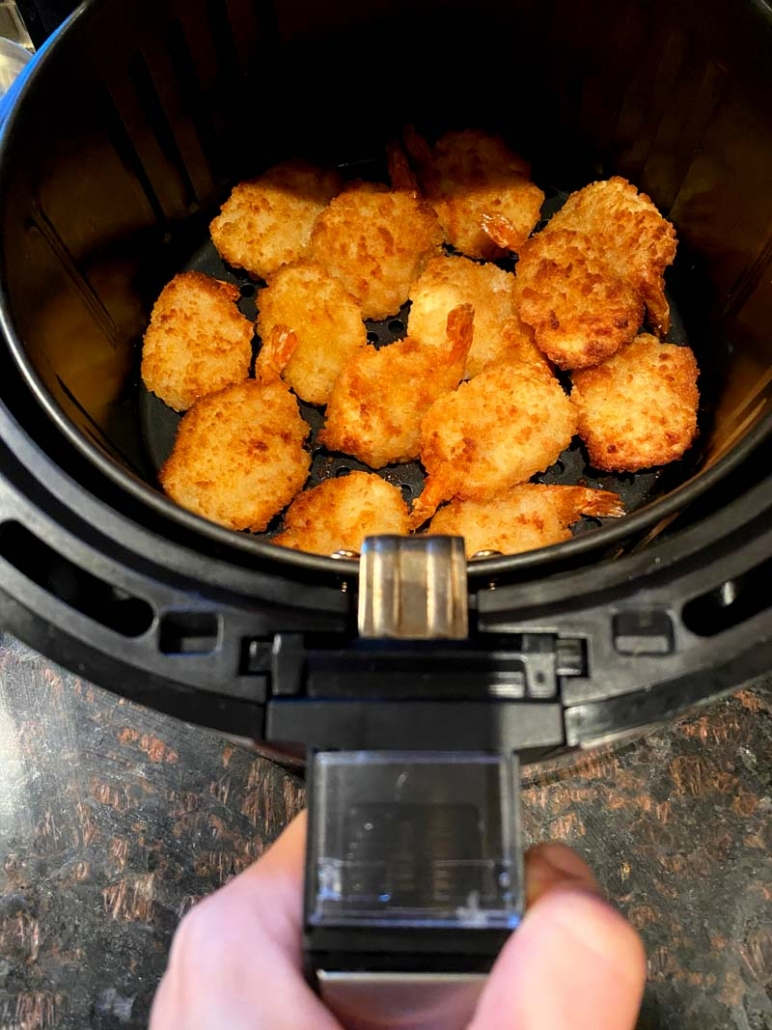Air fryer frozen breaded shrimp
