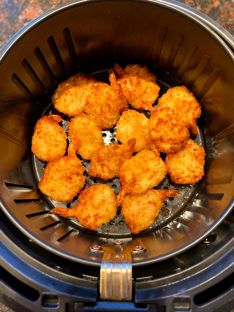 crispy breaded frozen breaded shrimp in the air fryer