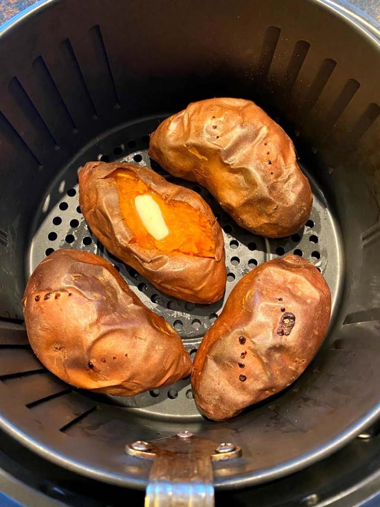 Air Fryer Baked Sweet Potatoes