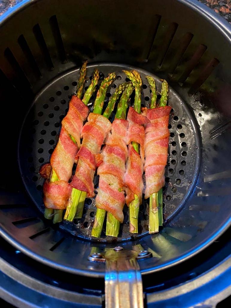 air fried asparagus with bacon