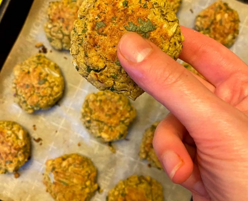 Vegan Baked Falafel With Canned Chickpeas