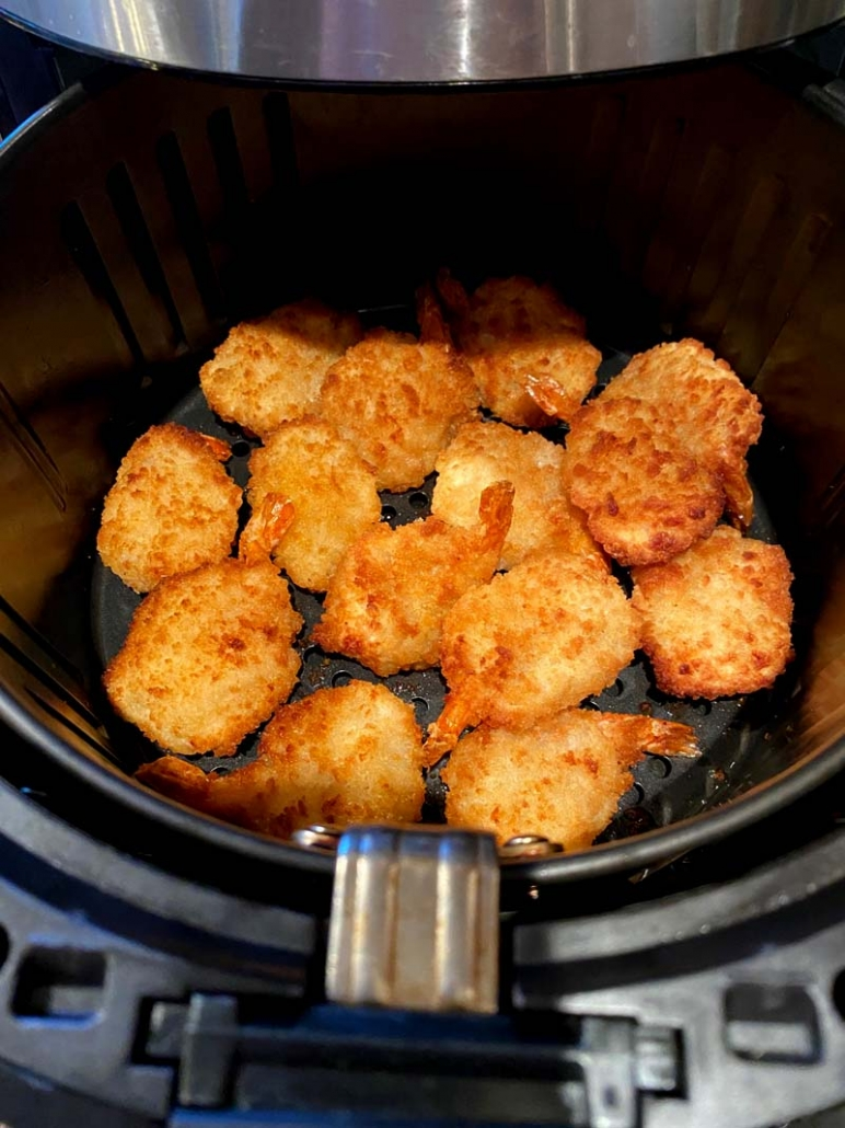 frozen breaded shrimp in the air fryer