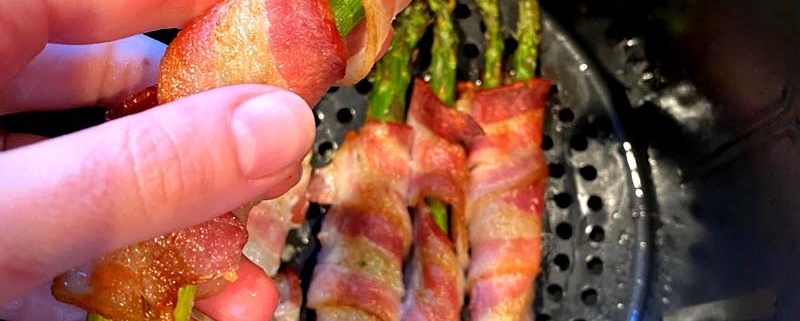 Air Fryer Bacon Wrapped Asparagus